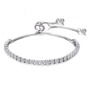 Swarovski Crystal adjustable Tennis Bracelet
